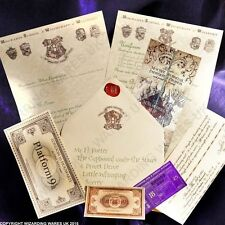 Harry Potter PERSONALISED Hogwarts Acceptance Letter, + Marauders Map + EXTRA