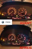 Réparation affichage compteur BMW série 7 e38