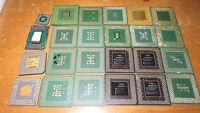 LOT OF 24 Intel / AMD CPU PROCESSORS FOR GOLD RECOVERY SCRAP 12.2 Oz