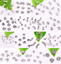 Lot Metal Spacer Beads Tibetan Silver Accessories Finding Wholesale -Multi Size