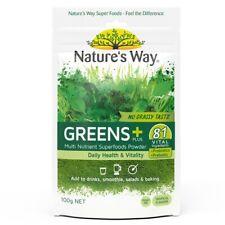 NATURE'S WAY GREENS PLUS + 100G MULTI NUTRIENT SUPERFOODS POWDER SUPER GREENS