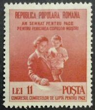 ROMANIA-RUMUNIA STAMPS MLH - Peace Congress, 1950, *, 11 L