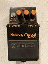 BOSS HM-2 Heavy Metal Guitar effect pedal  WORKS!