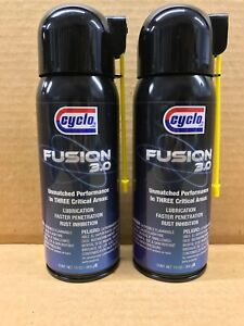 QTY 2 Genuine CYCLO Fusion 3.0 Penetrating Oil and Lubricant Spray FREE PRIORITY