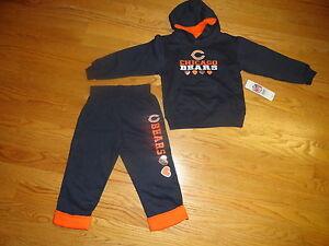 Chicago Bears Infant Girls 4T Toddler Hoodie Hooded Sweatshirt Pants Blue Orange