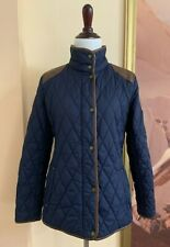 NWT Lauren by Ralph Lauren Women's Blue Quilted Snap-Front Equestrian Jacket XS