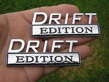 UK ~ DRIFT EDITION PAIR EMBLEMS Chrome Metal Badges *NEW* TOKYO DRIFT Skyline