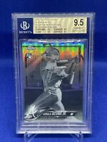 2018 Topps Chrome Ronald Acuna Jr. Negative Rookie Refractor SP BGS 9.5 Gem RC