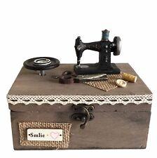 Textile - Wooden Music Storage Box