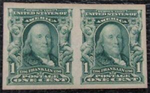nystamps US Stamp # 314 Mint OG H Pair $33   L23x266