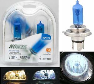 Nokya 7000K White 9003 HB2 H4 Nok7413 60/55W Two Bulbs Head Light High Low Beam