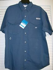 "COLUMBIA"" BONEHEAD"" FISHING SHORT SLEEVE SHIRT  SMALL  (19)"