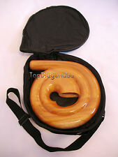 "Travel Compact Spiral Didgeridoo+BAG 69""! Handcarved Mahogany swirl snail shell"