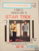 FILES MAGAZINE 1988 STAR TREK CHARACTER GUIDE Book 2 K-P