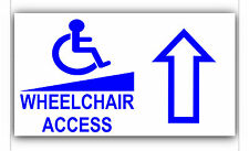 Wheelchair Access Entry Sticker Sign-Disabled,Disability,Mobility-Forward Arrow