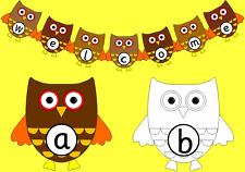 Owl Alphabet -phonics, literacy, display, autumn