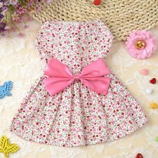 Sweet Pet Dog Cat Clothes Cute Dress Flower Cotton Puppy Apparel Coat Costume