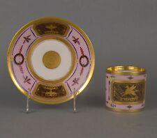 Tasse Empire litron en porcelaine Vieux Paris Pegasus Imitation marbre 19ème