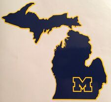 """University Of Michigan Wolverines Decal Maize & Blue 5.0""""x5.5"""" **FREE SHIPPING**"""