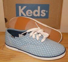 NEW KEDS Light Blue SNEAKERS Shoes GIRLS Kids Size 2 NIB