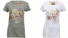 Cotton Floral Regular Size Graphic T-Shirts for Women