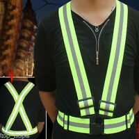 Adjustable Outdoor Safety Security High Visibility Reflective Vest Gear Stripes