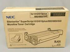 NEC 20-061 20061 Black Toner Cartridge SuperScript 610 Genuine New Open Box