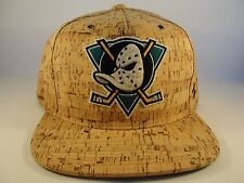 NHL Anaheim Mighty Ducks Snapback Hat Cap Zephyr Cork Dynasty