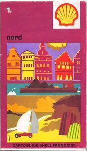 Carte Routière collector - Cartoguide SHELL Française - Nord  N° 1
