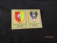 ORLEANS QUIMPER  Ecusson image sticker N° 348 FOOTBALL 85 PANINI 1985 BRILLANT