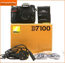 Cámara SLR Digital 24MP Nikon D7100 Cargador y Batería GRATIS UK FRANQUEO