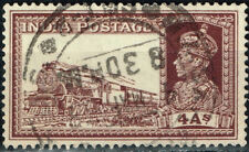 India British Coloinial Railroad Train Locomotive stamp 1940 colonial postmark