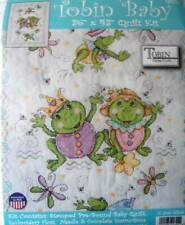 Tobin Frog Family Quilt Stamped Cross Stitch Kit 36 by 43-inch 378552