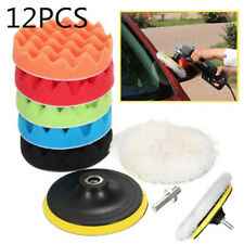 12pcs 3'' Buffing Waxing Polishing Sponge Pads Kit Set For Car Polisher AU Ship