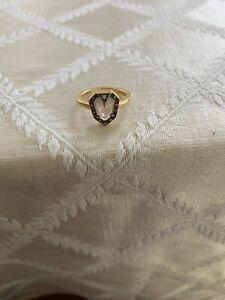Cathy Waterman 22K Yellow Gold Diamond Shield ring  / Sz 6.5 / WORN ONCE / $6700