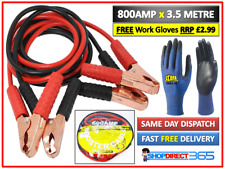 HEAVY DUTY 800AMP CAR VAN JUMP LEADS 3.5 METRE BOOSTER CABLE START & GLOVES NEW