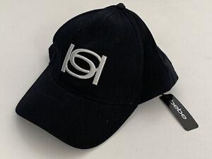NEW! BEBE SIGNATURE LOGO BLACK ADJUSTABLE BASEBALL CAP HAT ONE SIZE FITS ALL