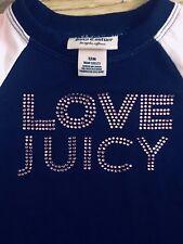Juicy Couture Top Bébé Fille Bleu Marine Cristal T-shirt rose. Taille 1 ans.