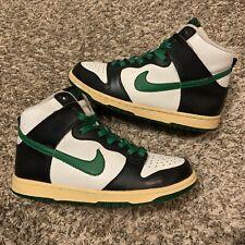 Vintage Nike Dunk High Pine Green White Black 2006 Sneakers Size 6 Un Heineken