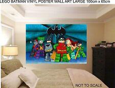 LEGO BATMAN ROBIN JOKER WALL ART 100cm wide childrens bedroom wall art stickers.