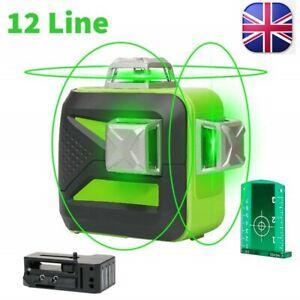 Huepar 603CG 12Lines 3D Laser Level Self-Leveling 360degree