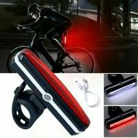 LED Bicycle Bike Cycling Front Rear Tail Light USB Rechargeable 6 Modes Lamp