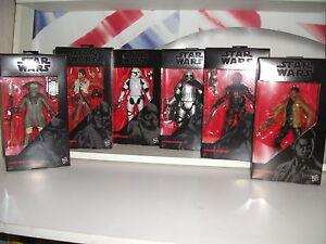 "star wars black series 6"" WAVE 2 the force awakens.POE,PHASMA,FINN,GUAVIAN,ZUVIO"