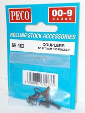 Peco GR-102 - 009 Couplers x 4 (To fit NEM 355 Pocket) - New.(009)
