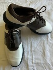 Nike Men's Golf Shoes Cleats Size 10.5 W Brown White 336041-102