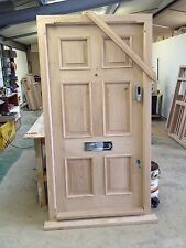 Solid Oak 6 Panel Door , No Vat!!! Exterior Hardwood Joinery Door Only