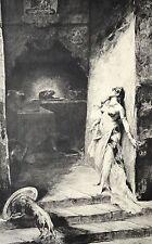 GRAVURE 1886 SALOME NUE Henri Courselles Dumont  Imp Clément 30x18,5cm L'Art