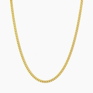 Source 22 inch 18ct Gold Curb Chain Necklace 2mm thick