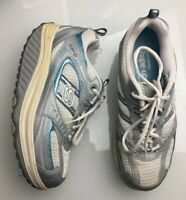 Sketchers Shape Ups Blue Silver Athletic Walking Athletic Womens Size 8