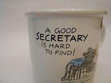 "Carlton Cards ""A Good Secretary Hard To Find""  Coffee Tea Mug Cup"